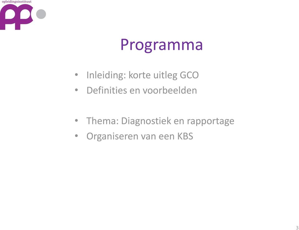 voorbeelden Thema: Diagnostiek