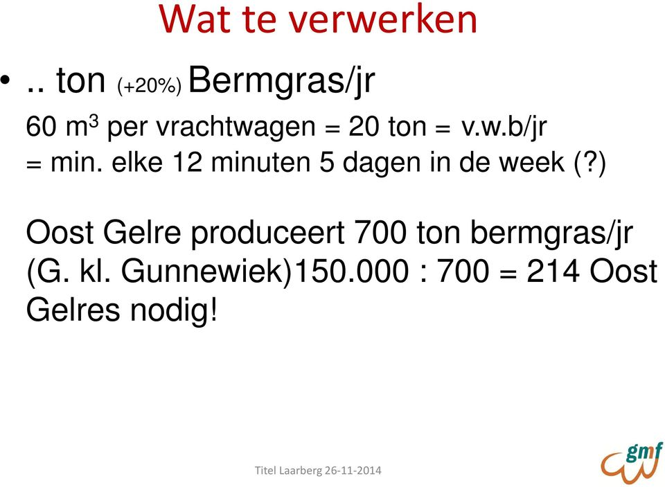 = v.w.b/jr = min. elke 12 minuten 5 dagen in de week (?