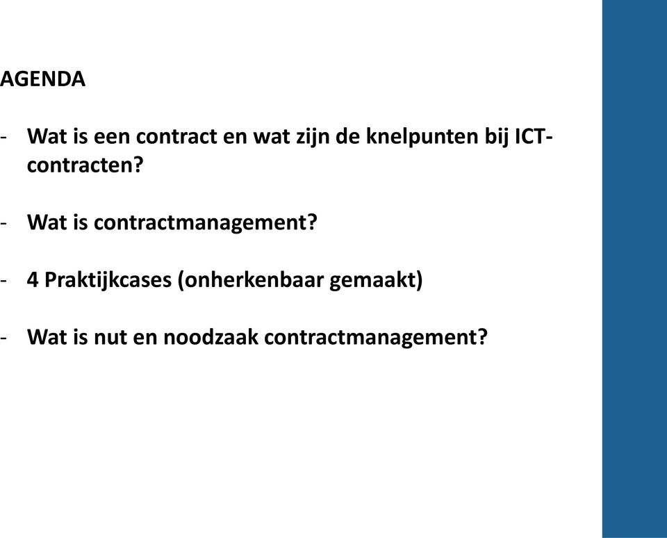 - Wat is contractmanagement?