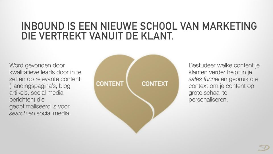 blog artikels, social media berichten) die geoptimaliseerd is voor search en social media.