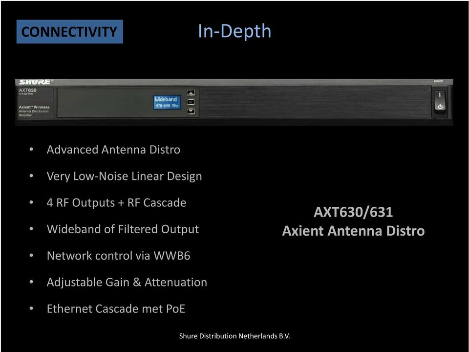 Output Network control via WWB6 AXT630/631 Axient Antenna