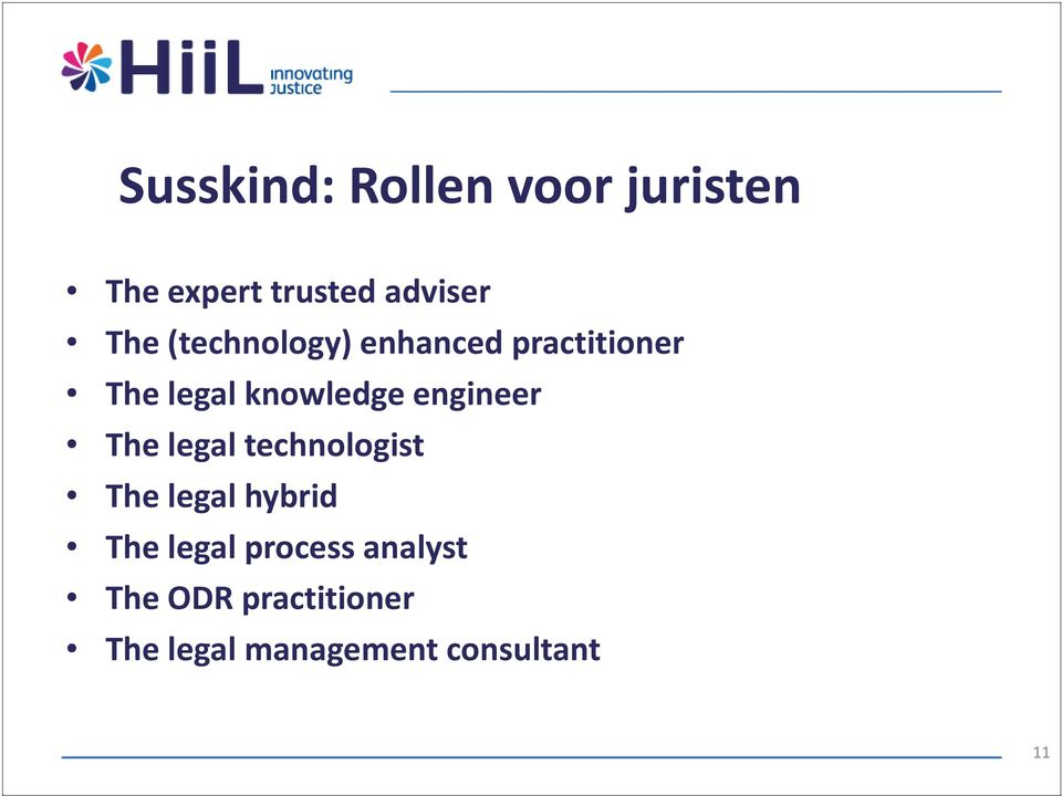 engineer The legal technologist The legal hybrid The legal
