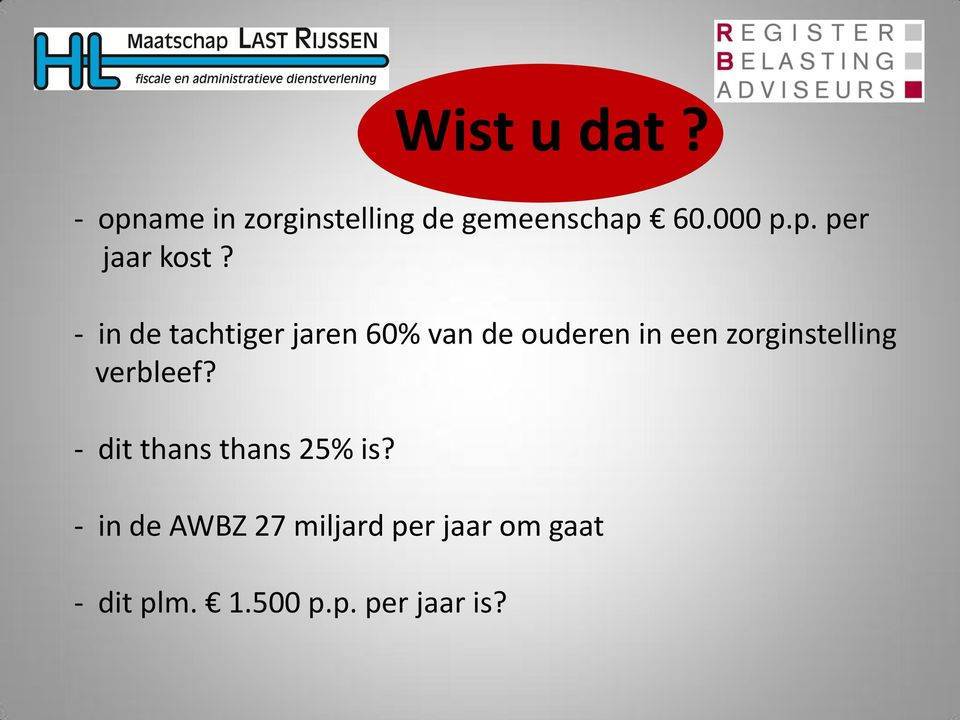 verbleef? - dit thans thans 25% is?