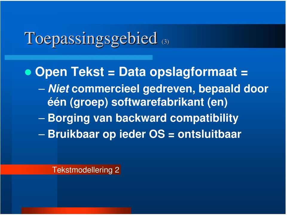 softwarefabrikant (en) Borging van backward