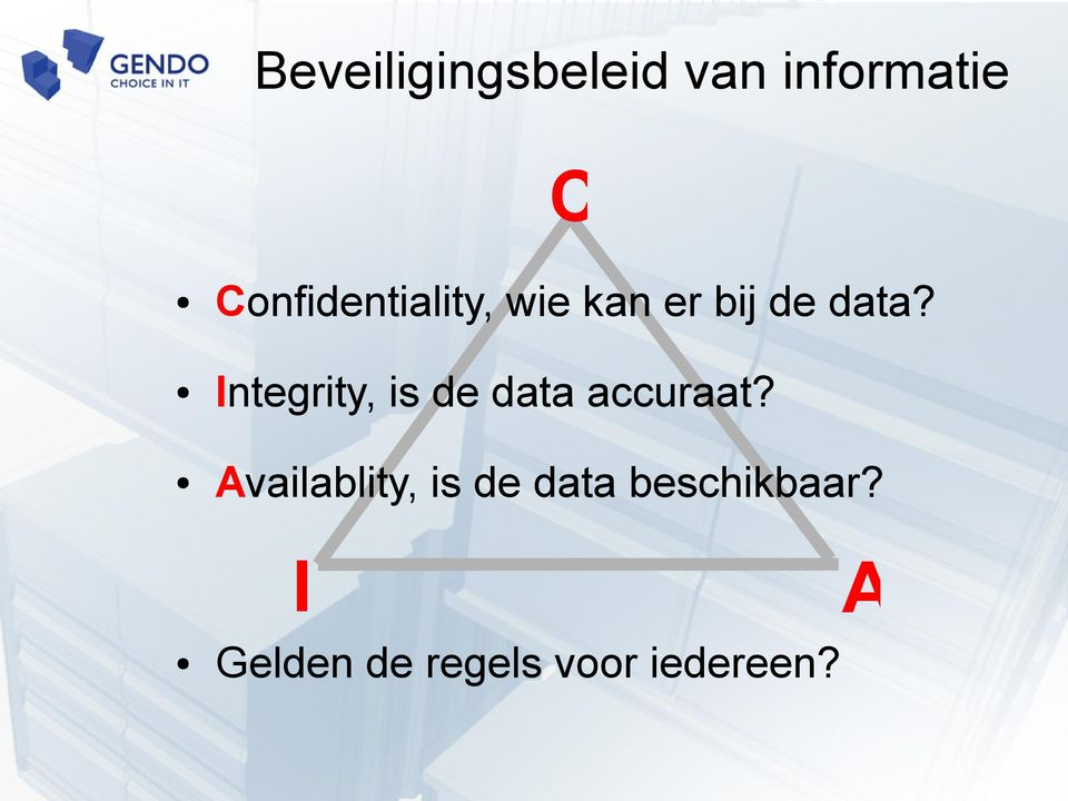 Integrity, is de data accuraat?