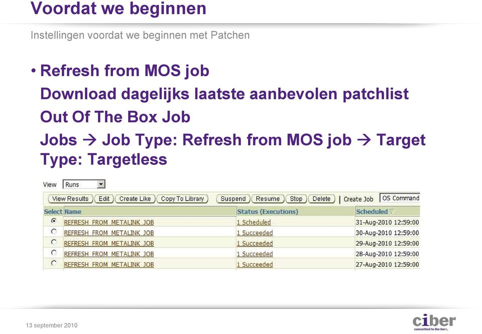 laatste aanbevolen patchlist Out Of The Box Job Jobs