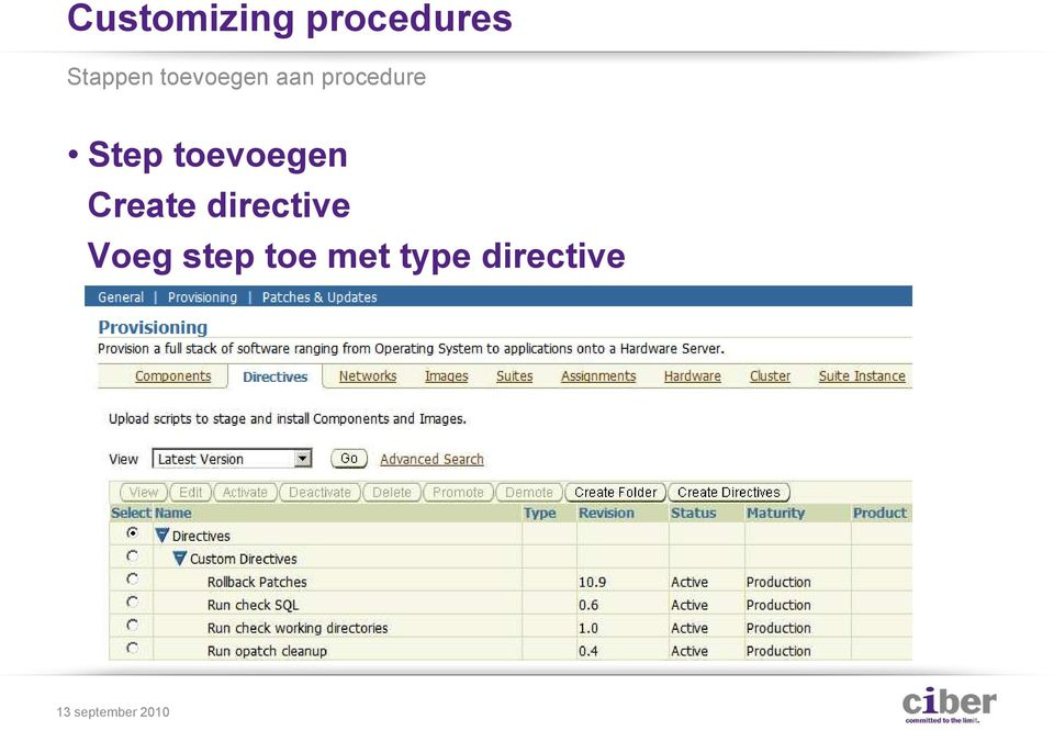 procedure Step toevoegen