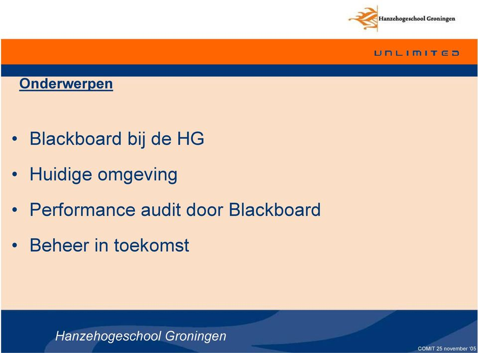 audit door Blackboard Beheer in