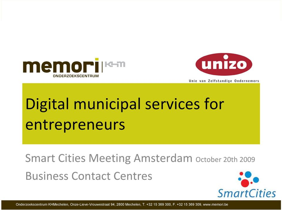 Cities Meeting Amsterdam