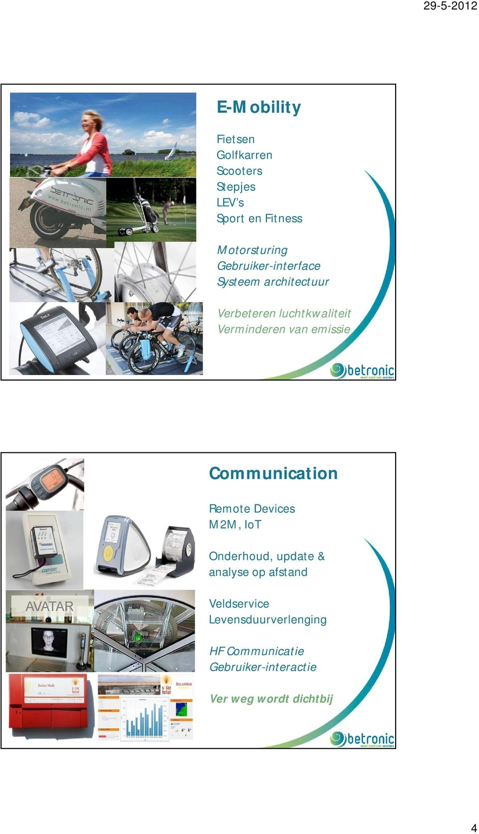 emissie Communication Remote Devices M2M, IoT Onderhoud, update & analyse op afstand