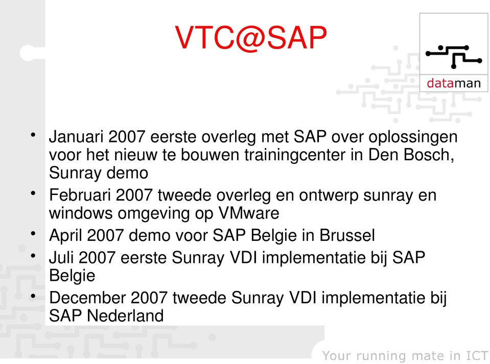 windows omgeving op VMware April 2007 demo voor SAP Belgie in Brussel Juli 2007 eerste