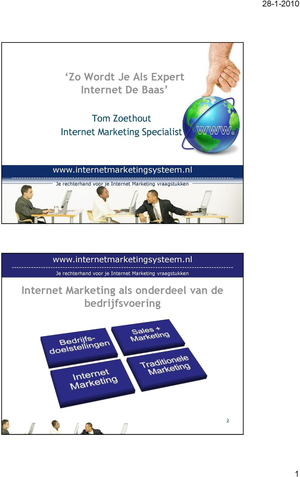 Marketing Specialist Internet