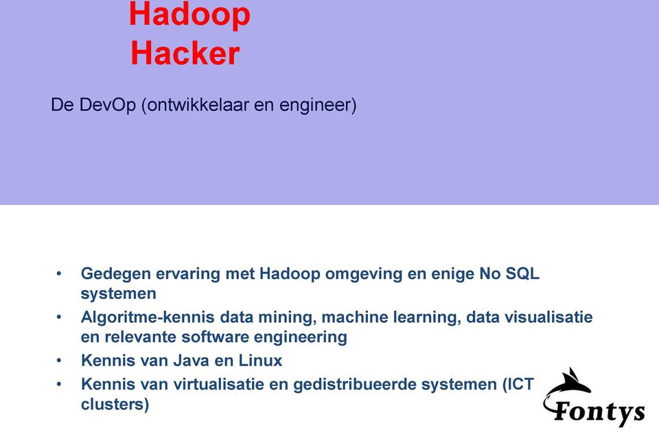 machine learning, data visualisatie en relevante software engineering