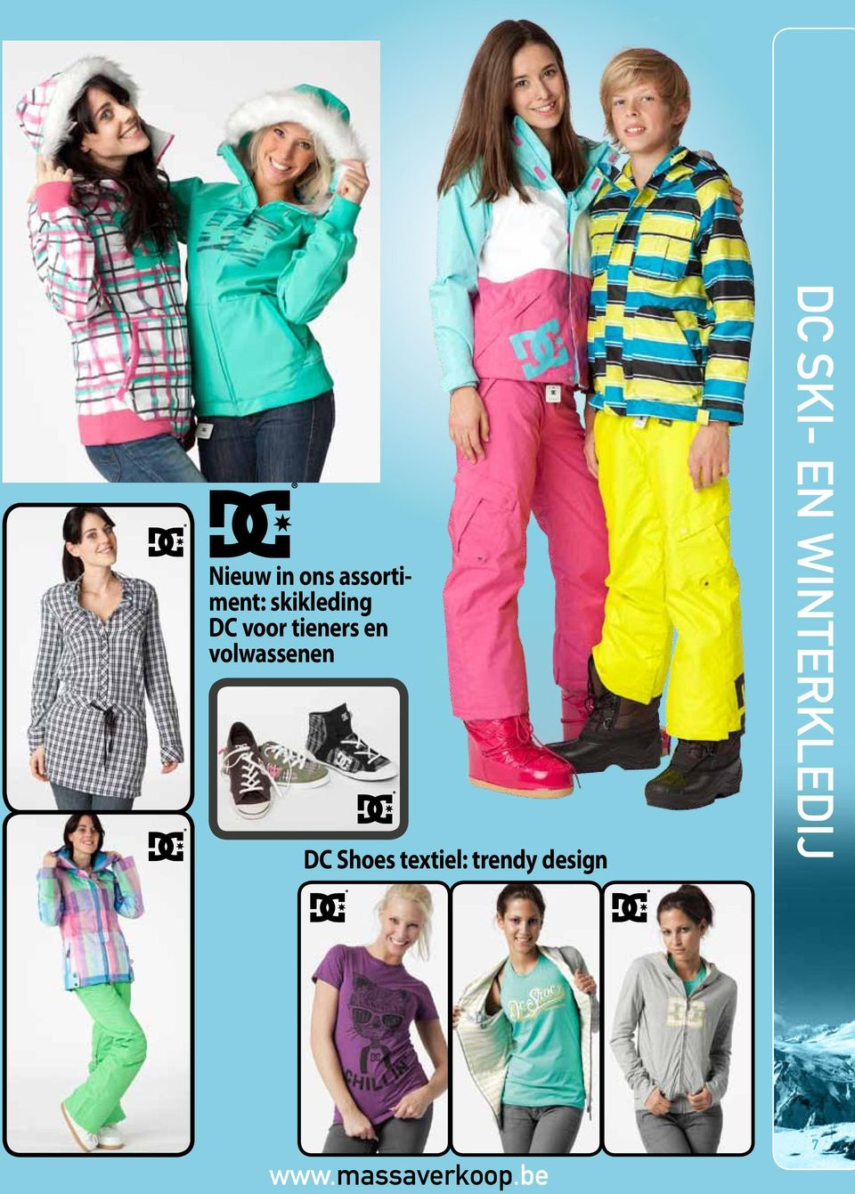 Shoes textiel: trendy design DC ski-