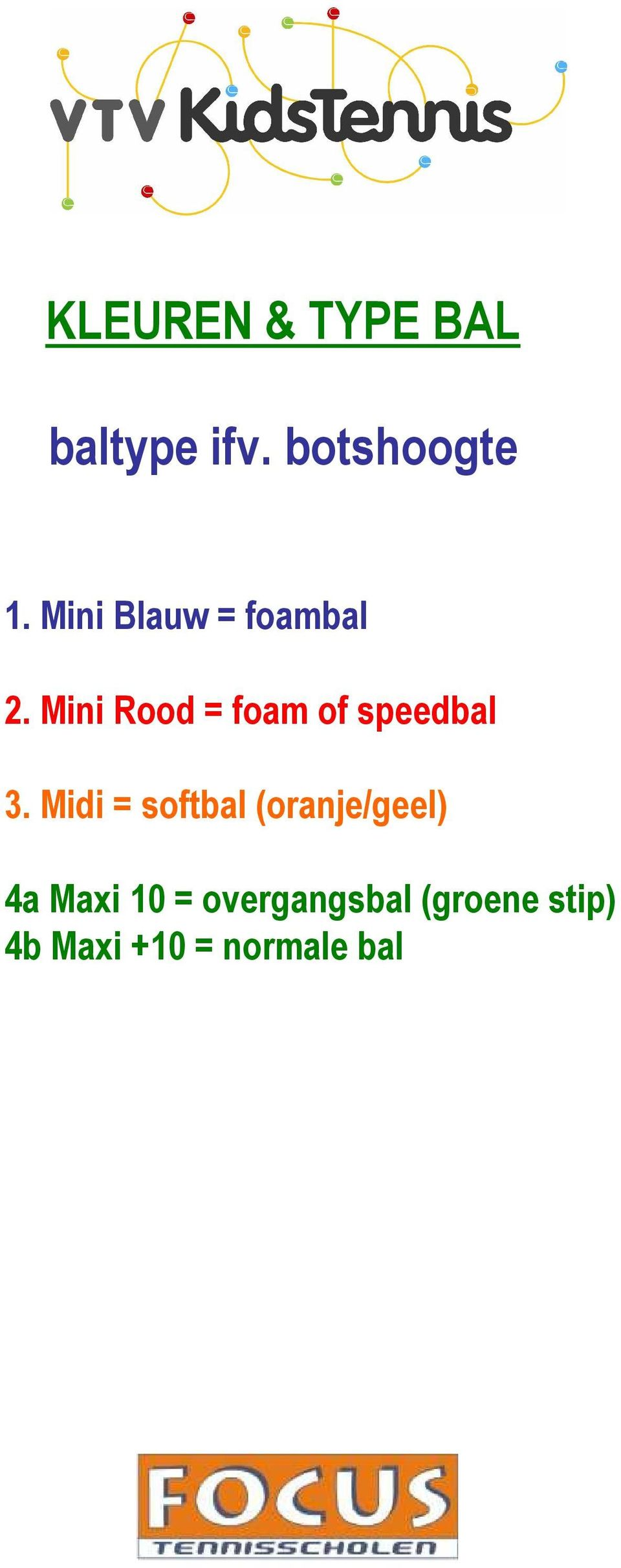 Mini Rood = foam of speedbal 3.