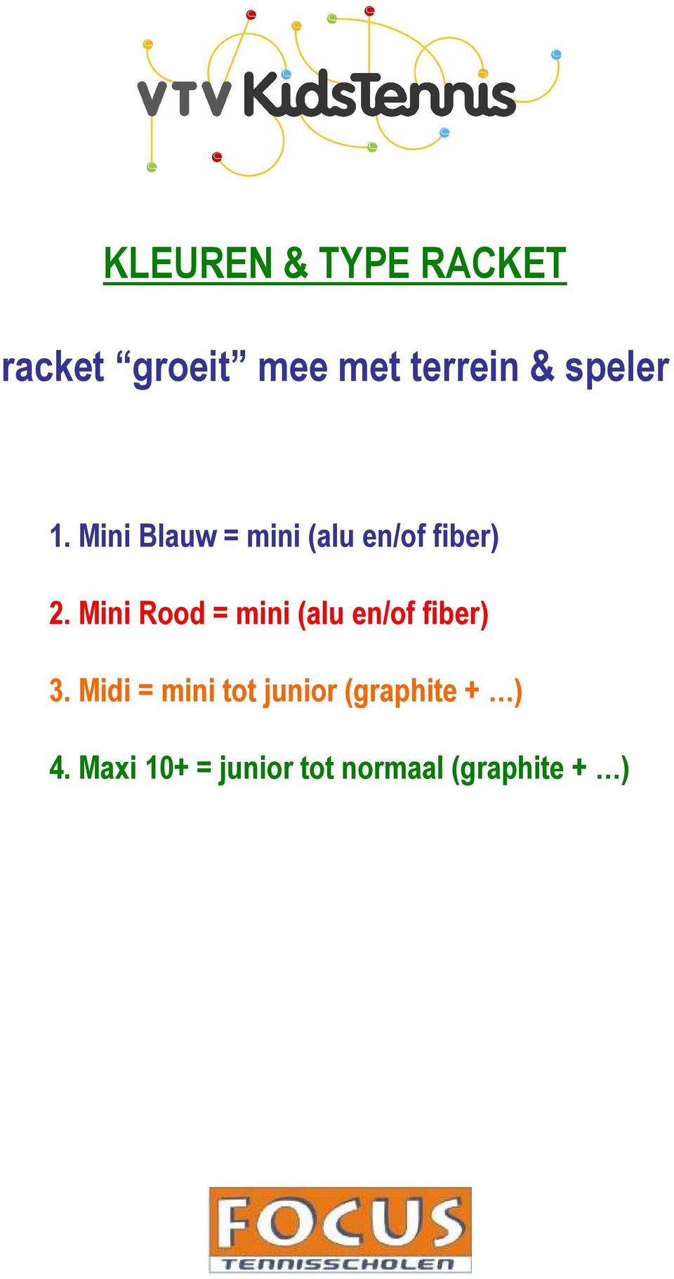 Mini Rood = mini (alu en/of fiber) 3.