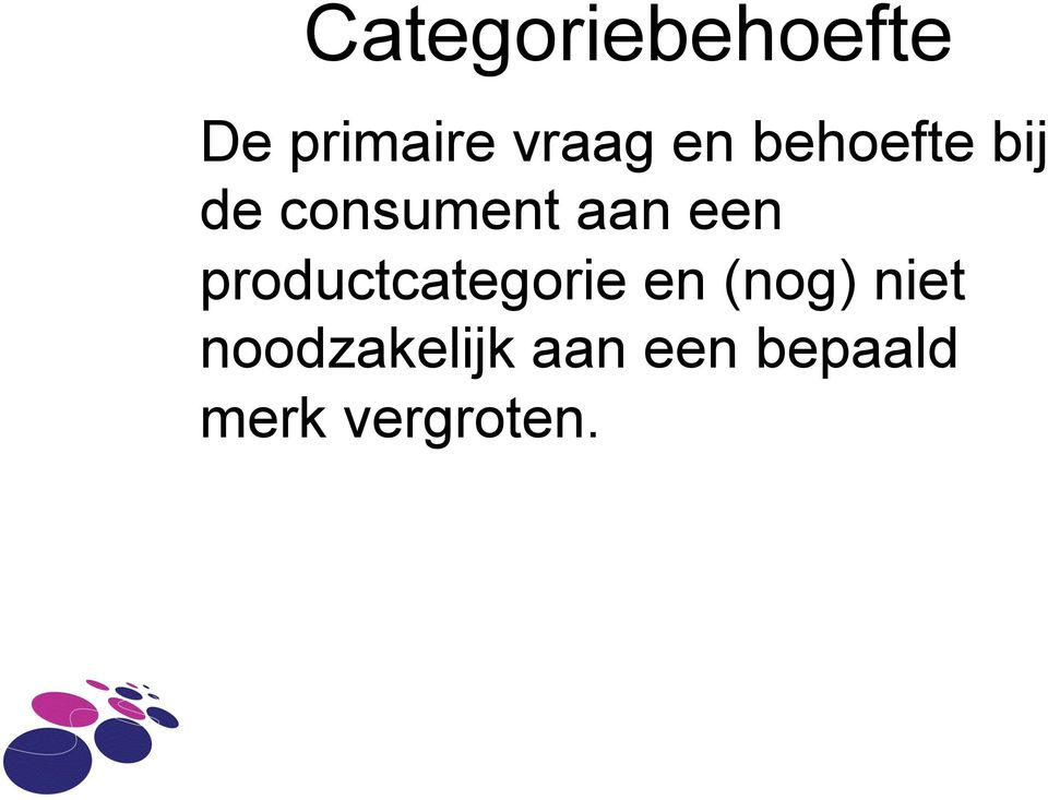 productcategorie en (nog) niet