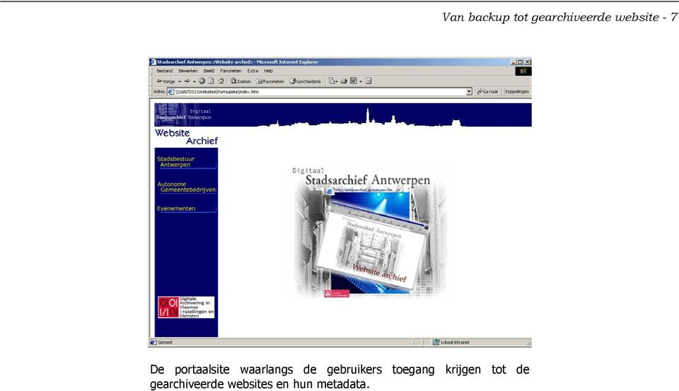 gearchiveerde websites en hun