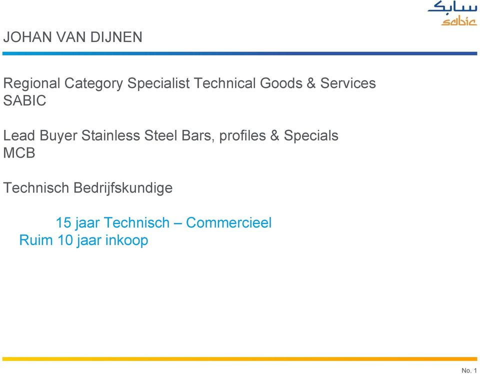 Steel Bars, profiles & Specials MCB Technisch