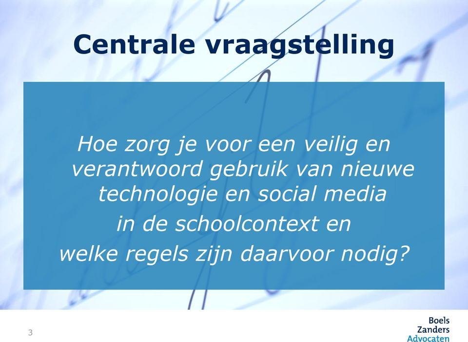nieuwe technologie en social media in de
