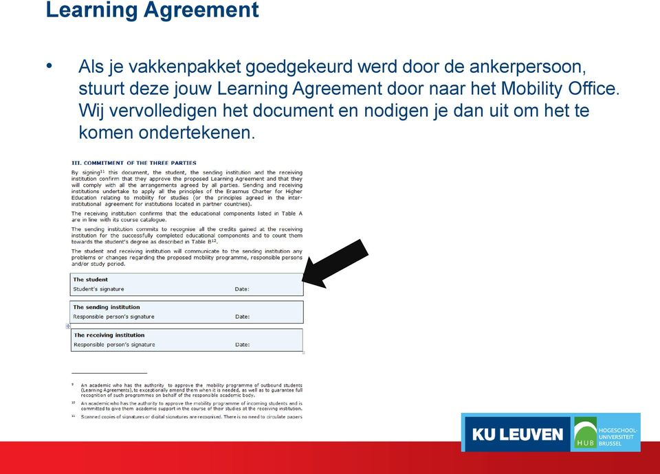 Agreement door naar het Mobility Office.