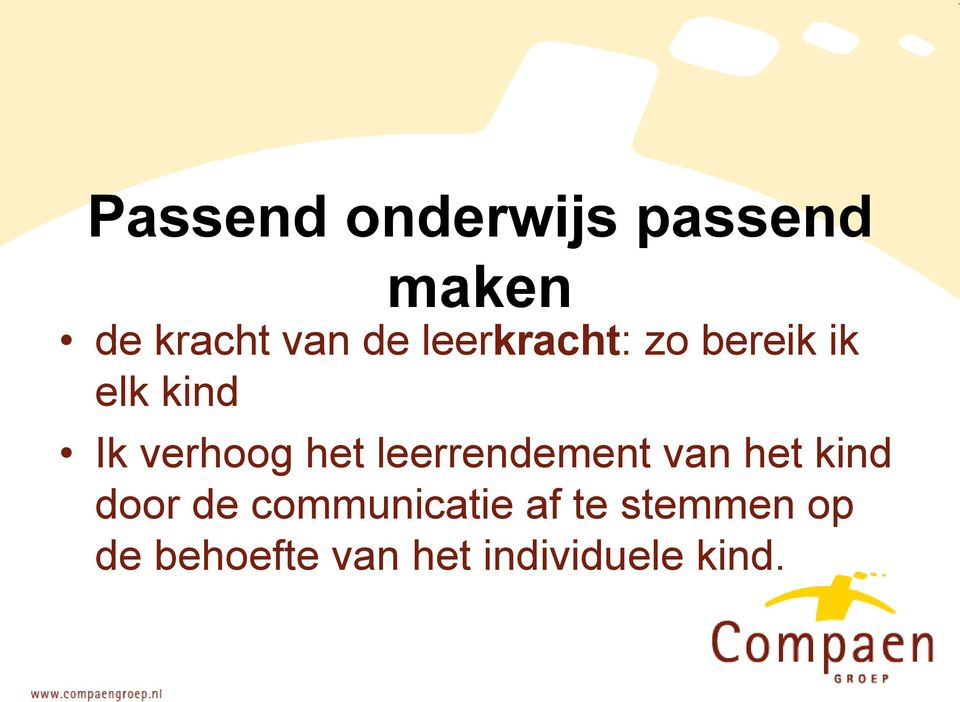 leerrendement van het kind door de communicatie