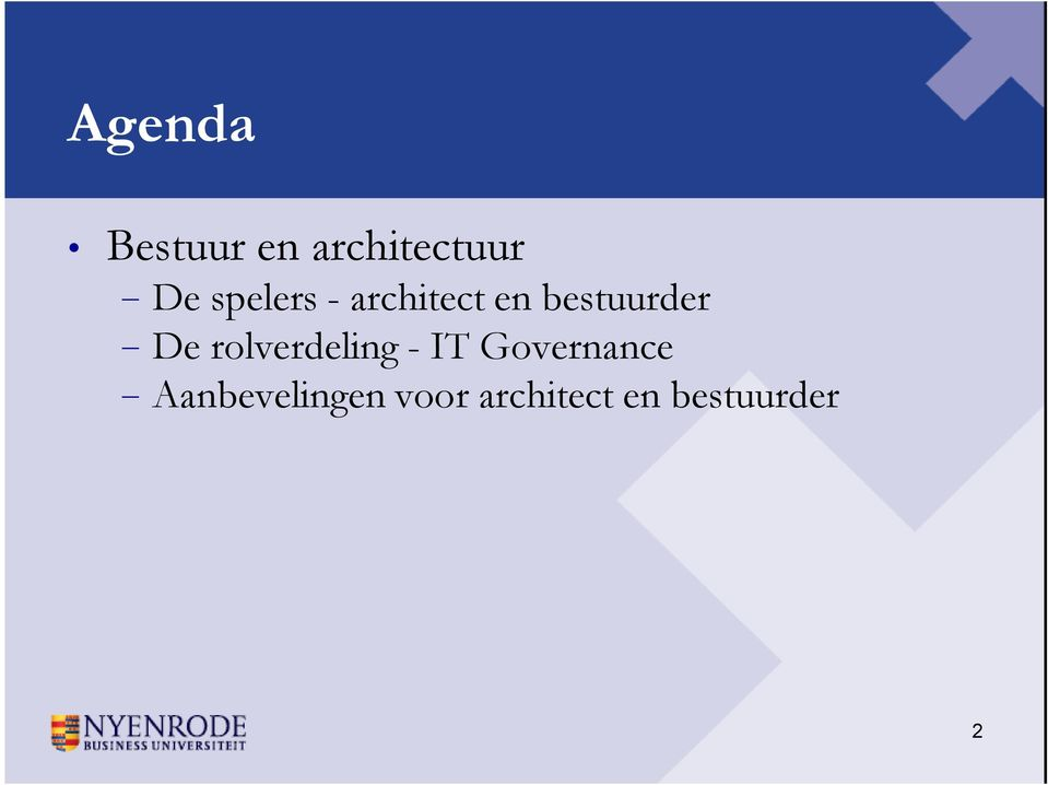 De rolverdeling - IT Governance