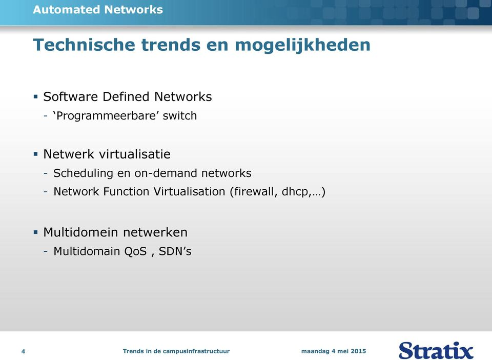 Scheduling en on-demand networks - Network Function