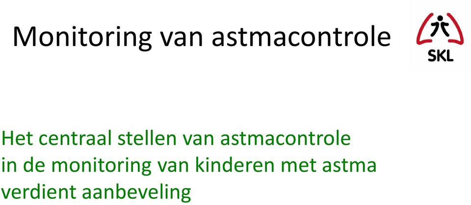 astmacontrole in de monitoring