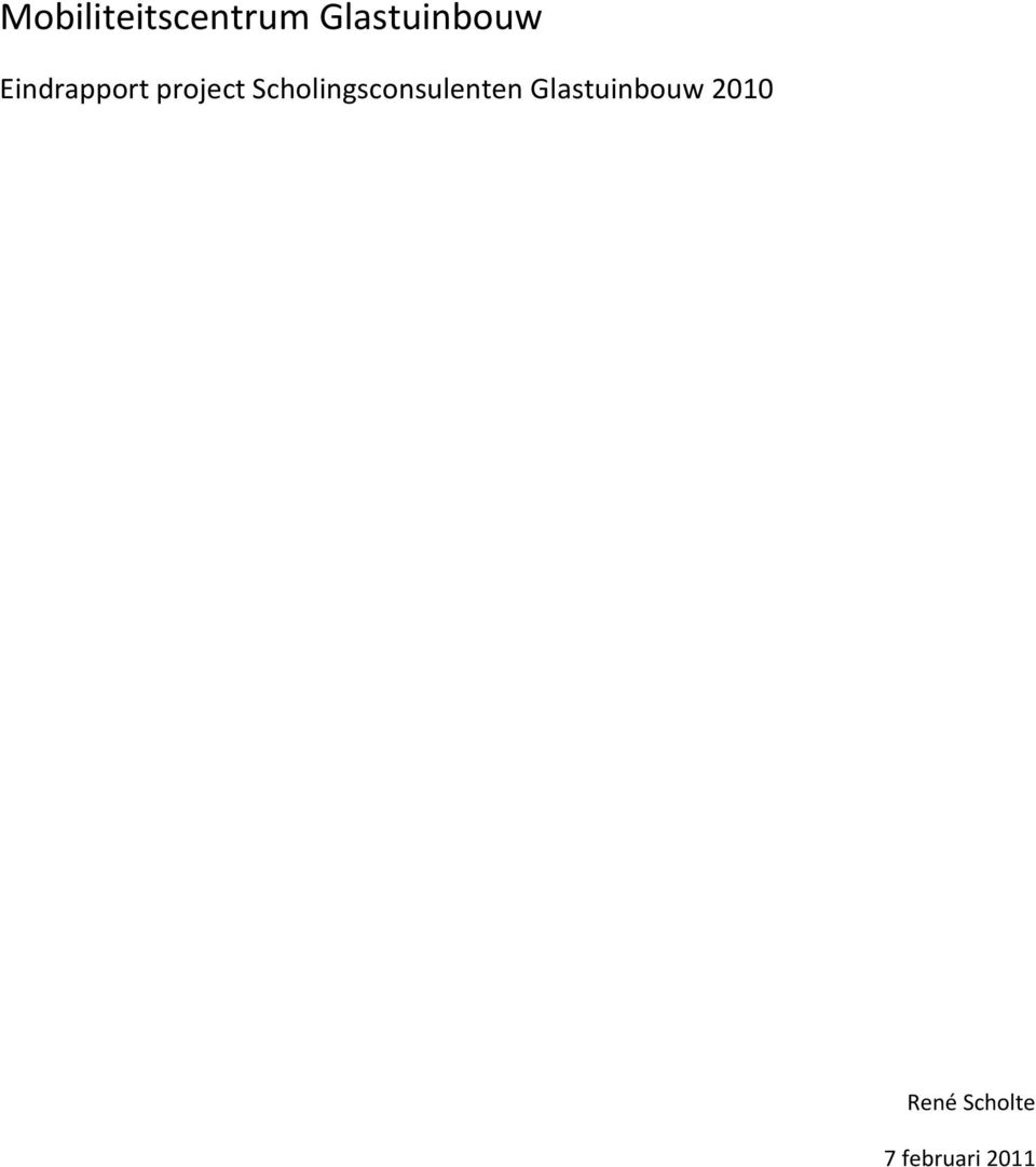 project Scholingsconsulenten