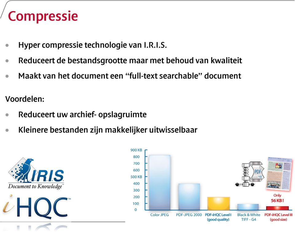 van het document een full-text searchable document Voordelen: