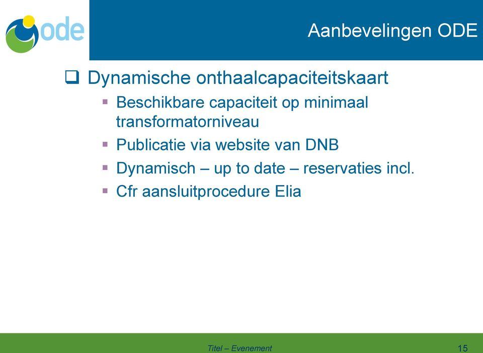 minimaal transformatorniveau Publicatie via website