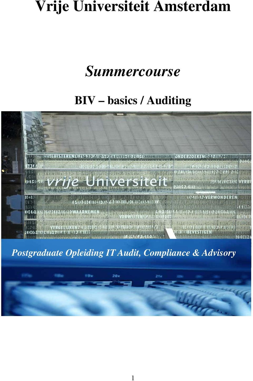Auditing Postgraduate
