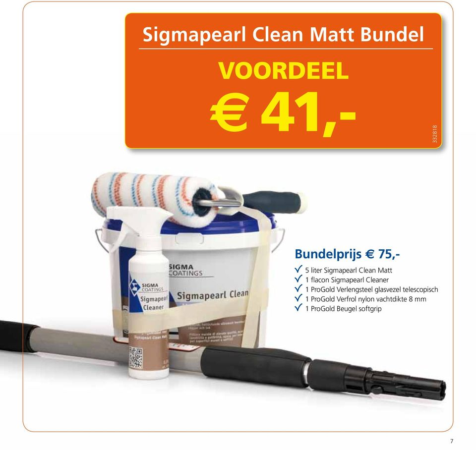 Sigmapearl Cleaner 1 ProGold Verlengsteel glasvezel