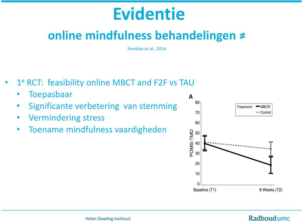 , 2014 1 e RCT: feasibility online MBCT and F2F vs