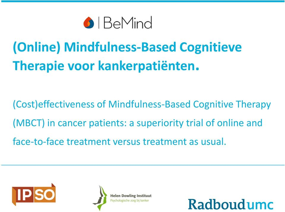 (Cost)effectiveness of Mindfulness-Based Cognitive Therapy