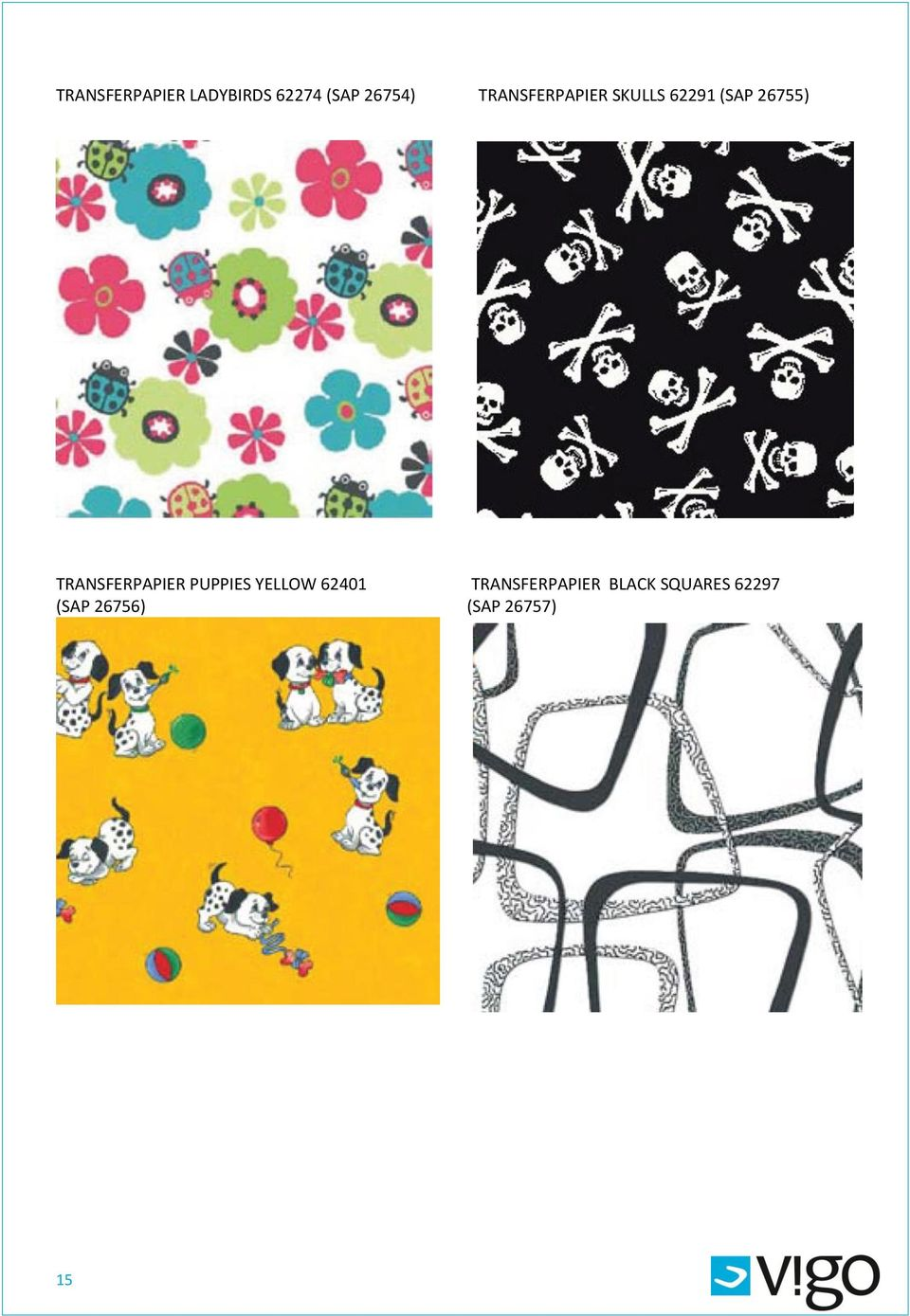 TRANSFERPAPIER PUPPIES YELLOW 62401