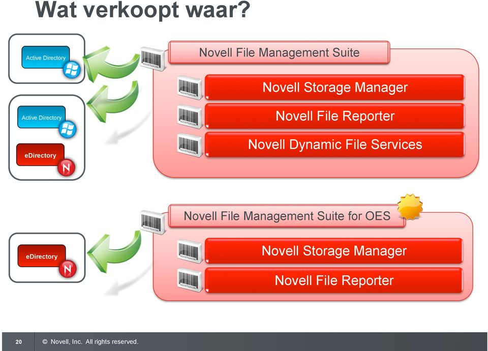 Manager Active Directory edirectory Novell File Reporter Novell