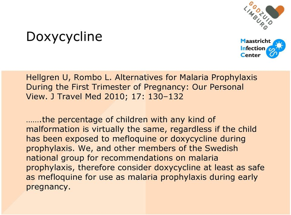 malaria doxycycline side effects