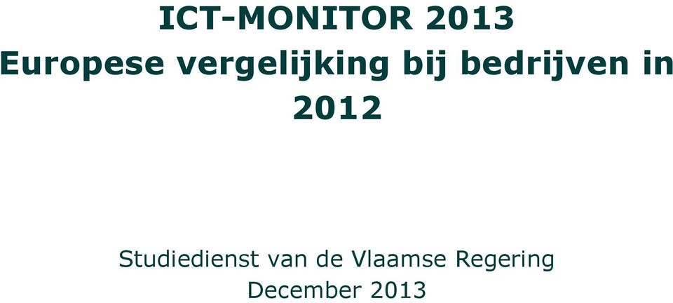 in 2012 Studiedienst van