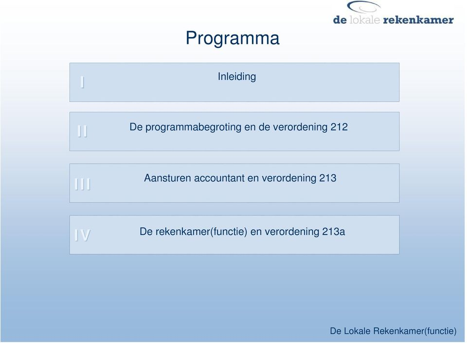 212 III Aansturen accountant en