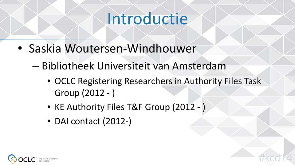 Researchers in Authority Files Task Group (2012 - )