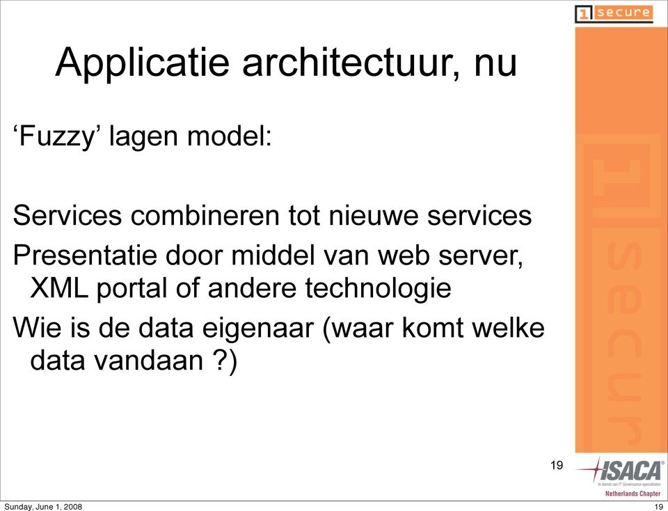 van web server, XML portal of andere technologie Wie is