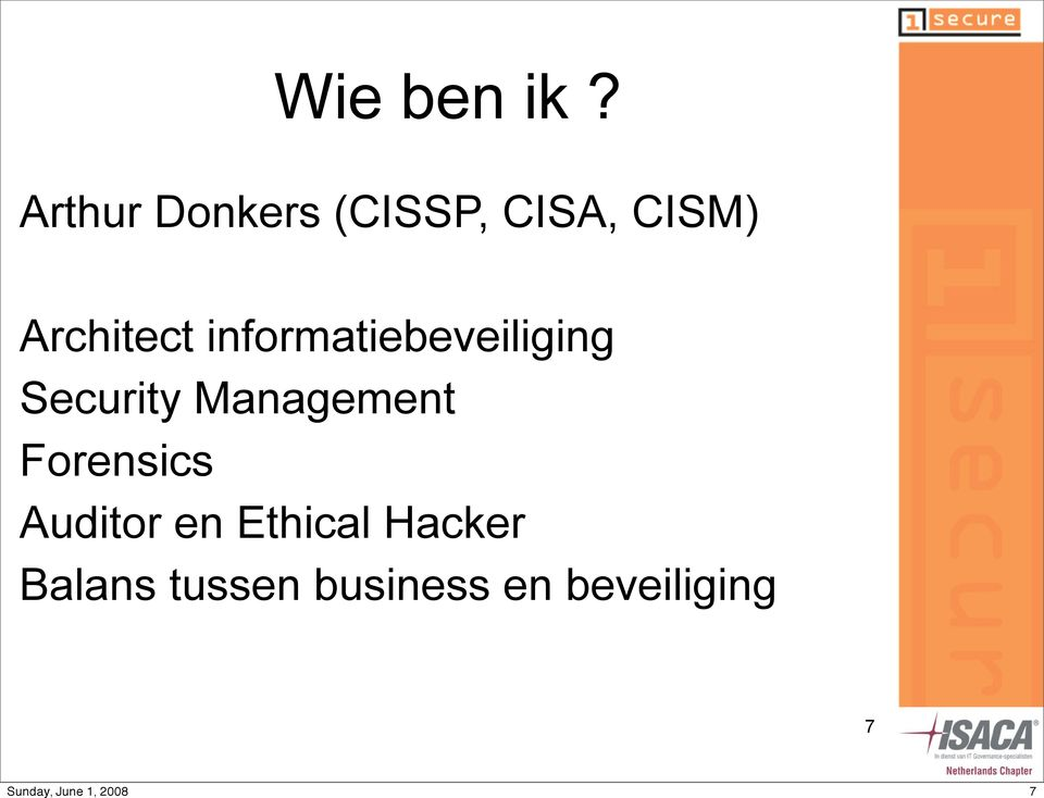 Architect informatiebeveiliging Security