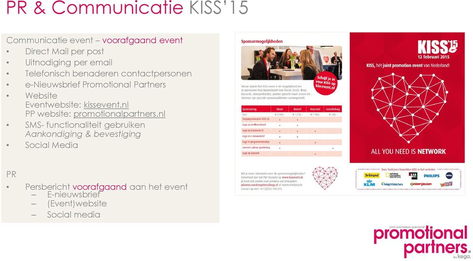 kissevent.nl PP website: promotionalpartners.