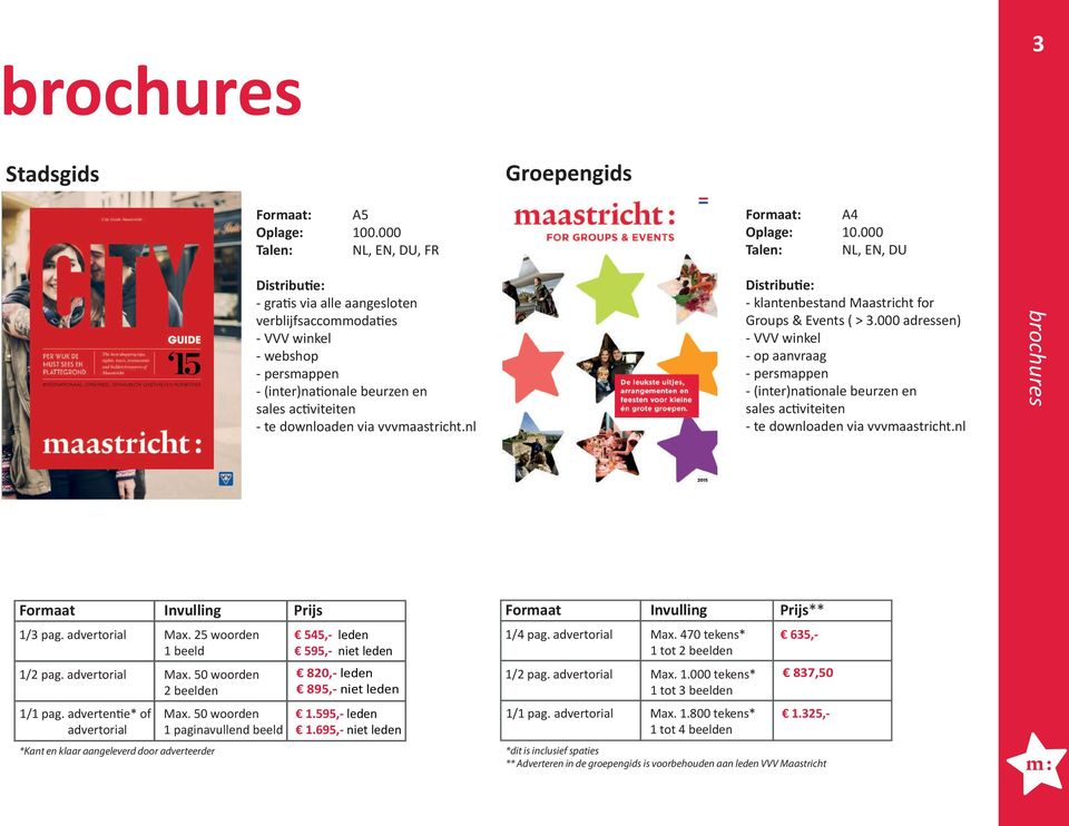 vvvmaastricht.nl Distributie: - klantenbestand Maastricht for Groups & Events ( > 3.