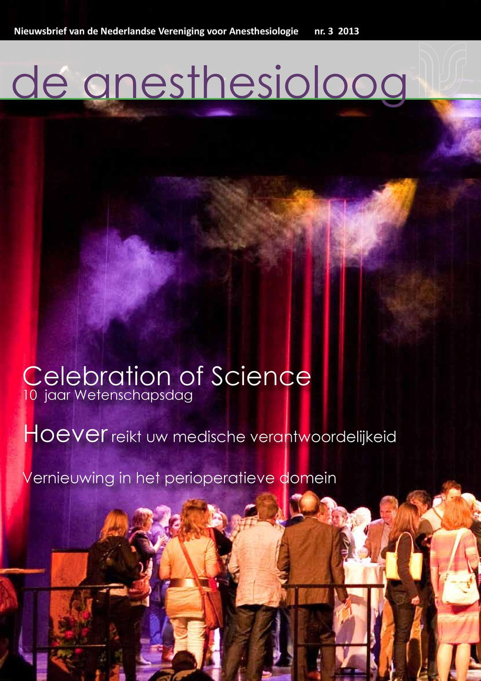 3 2013 de anesthesioloog Celebration of Science 10 jaar