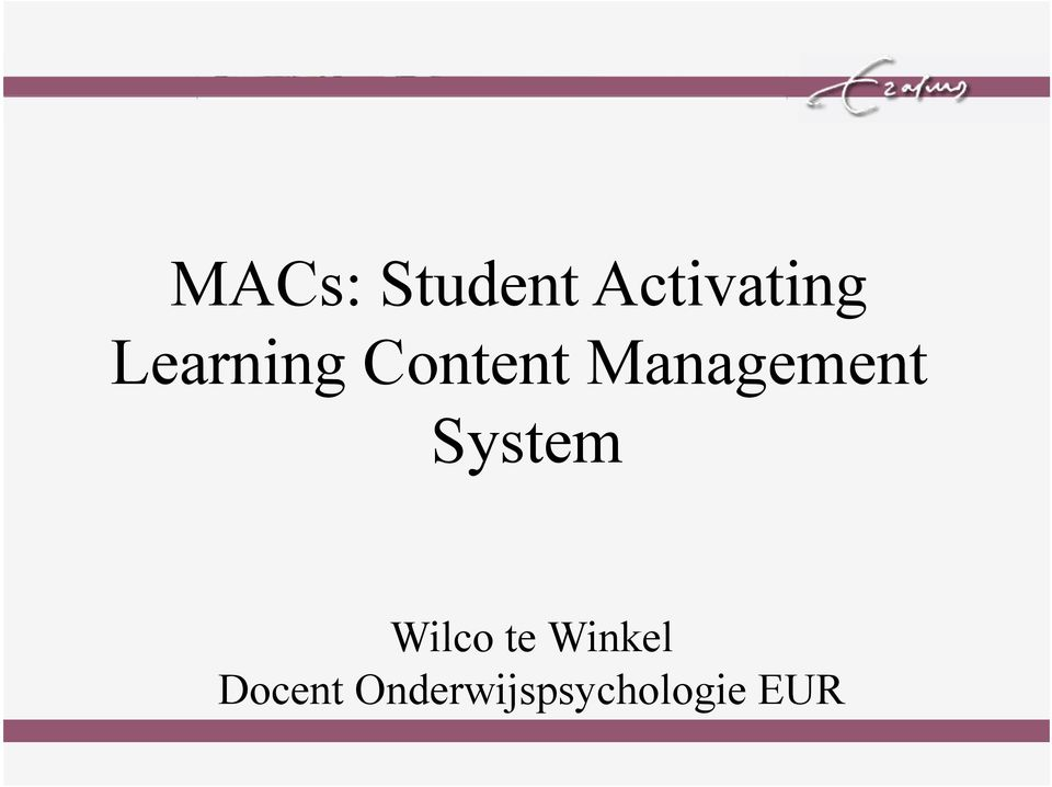 Management System Wilco te