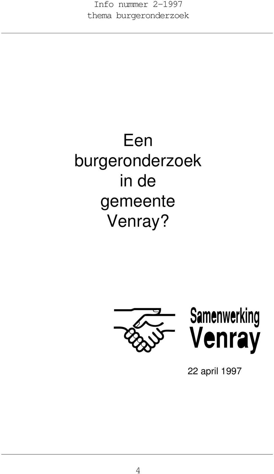 burgeronderzoek in de