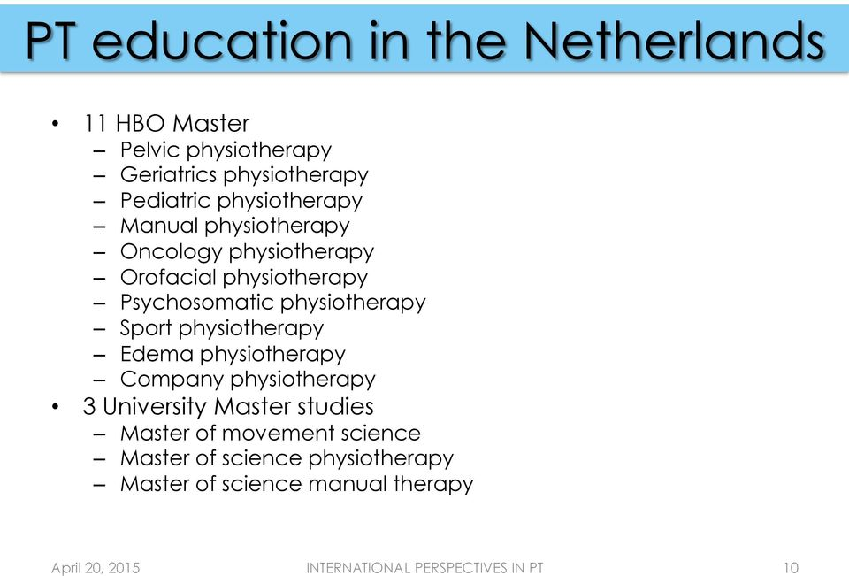 physiotherapy Sport physiotherapy Edema physiotherapy Company physiotherapy 3 University Master
